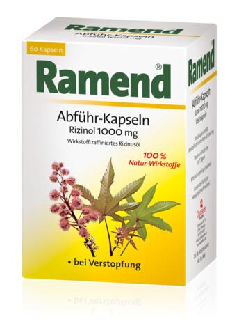 Ramend Abführ-Kapseln Rizinol 1000 mg